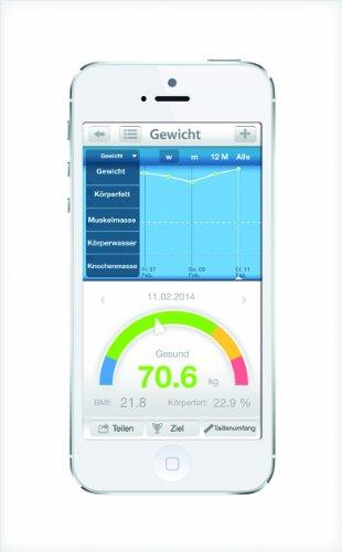 adeVital Analysis BA 1401 Körperanalysewaage (Bluetooth, passende App für Android u. iOS) - 4