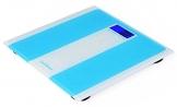 """Canwelum """"Intelligente Schritt auf"""" Praezision Digitale Personenwaage, Koerper Waage, Digitale Koerperwaage mit blauer Hintergrundbeleuchtung LCD-Display und stark gehaertetes Glas Plattform (blau) - 1"""