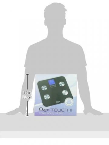 Ozeri ZB13 Touch digitale Körperanalysewaage bis 200 kg, schwarz - 10