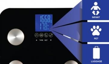 Ozeri ZB13 Touch digitale Körperanalysewaage bis 200 kg, schwarz - 2