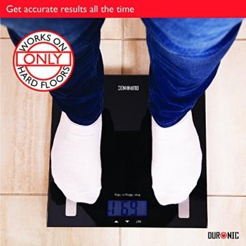 Duronic BS501 Digitalwaage mit Körperfettanalyse bis zu 180kg- dünner Glasboden,Badezimmer Maßstab, Touchbildschirm - Testsieger! - 6