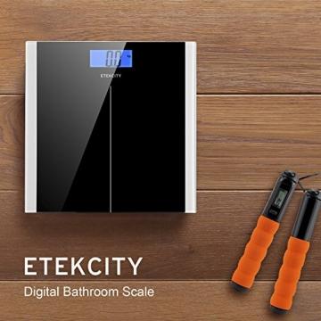 Etekcity Digitale Personenwaage aus Sicherheitsglas, 5kg-180kg, Slim Design, Schwarz - 7