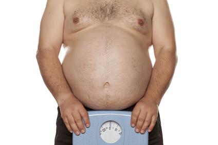 Personenwaage für Übergewichtige dicker Bauch