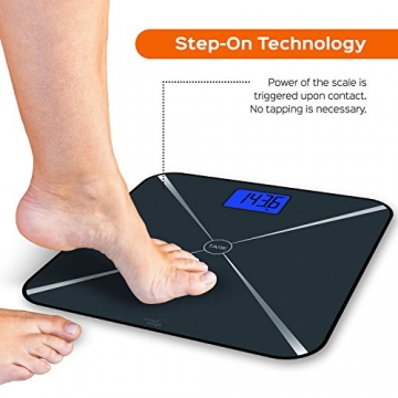 Smart Weigh Smart Tara digitale Personenwage Step-on Test