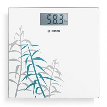 Bosch PPW3303 Gewichtswaage elektronisch Axxence Slim Line, Dekor Bambus, weiß - 2