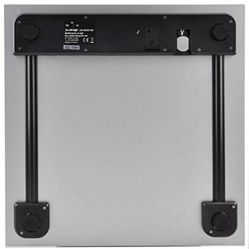 Accuweight AW-BS001 digitale Personenwaage aus gehärtetem Sicherheitsglas bis zu 180 kg /400 lb (Silber) - 6