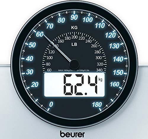 Beurer GS 58 Glaswaage Test Anzeige
