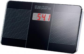PEARL Digitale Reise-Personenwaage, ultra kompakt, 446g leicht, LED Anzeige -