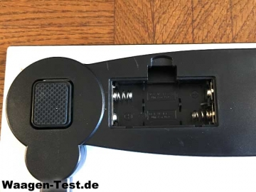 Canwelum digitale Personenwaage Batteriefach