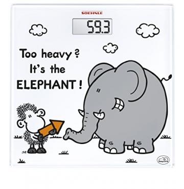 Soehnle 63343 Personenwaage Sheepworld Too Heavy Test