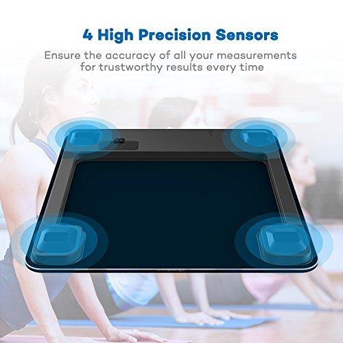 k rperfettwaage taotronics personenwaage gewichtswaage digitale k rperwaage mit app anbindung. Black Bedroom Furniture Sets. Home Design Ideas