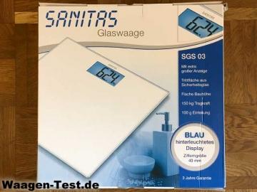 Sanitas SGS 03 Glaswaage Verpackung