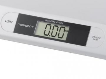 Topcom WG-2490 Babywaage - Digitaler Größen-Messer 2200 -