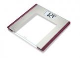 Beurer GS 170 Ruby Glaswaage | Extra dünne Personenwaage für moderne farbige Akzente in Ihrem Badezimmer -