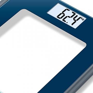 Beurer GS 170 Sapphire Glaswaage | Extra dünne Personenwaage für moderne farbige Akzente in Ihrem Badezimmer -