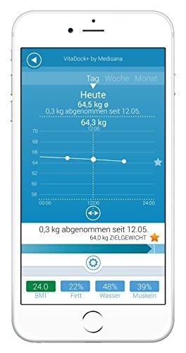 Medisana BS 444 connect Körperanalysewaage, VitaDock+ App -