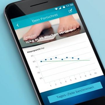 Philips Körperanalyse-Waage mit App-Anbindung DL8781/01, 6 Watt, weiß, (Nur für Deutschland) -