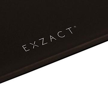 EXZACT Mini -Transportable Körperanalysewaage/ Elektronische Personenwaage/ Digitale Personenwaagen/ Badezimmerwaage - Körperfett / Körperwasser / BMI / Muskelmasse - 12 Benutzerspeicher - 150 kg / 330 lb (Schwarz) -